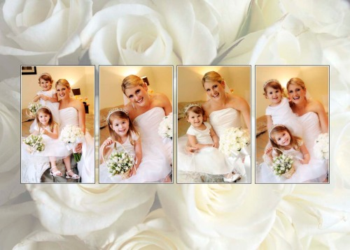 Leanne and her very cute flower girls.
