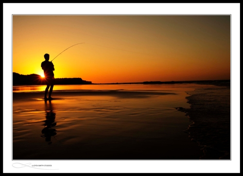 Fishing during another Eco sunset - what a life.
