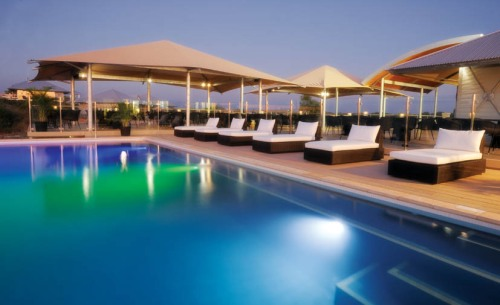 The magnificent pool at Eco Beach Wilderness Retreat in Broome.